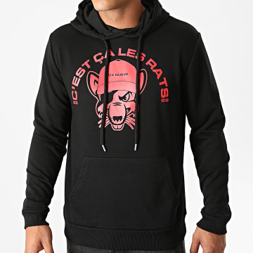 L'Allemand - Sweat Capuche Rats Noir Rouge