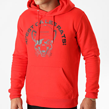 L'Allemand - Sweat Capuche Rats Rouge Noir