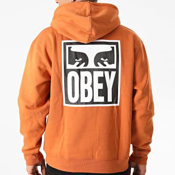 Obey - Sweat Capuche Eyes Icon 2 Orange