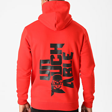 Untouchable - Sweat Capuche Logo Back Rouge Noir