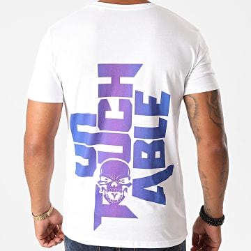 Untouchable - Tee Shirt Logo Blanc Dégradé Bleu