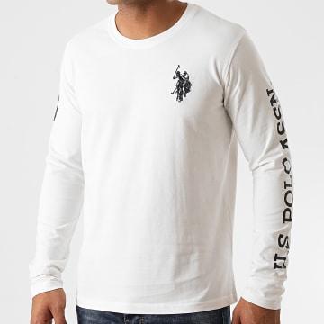 US Polo ASSN - Tee Shirt Manches Longues Sunwear 3 Blanc