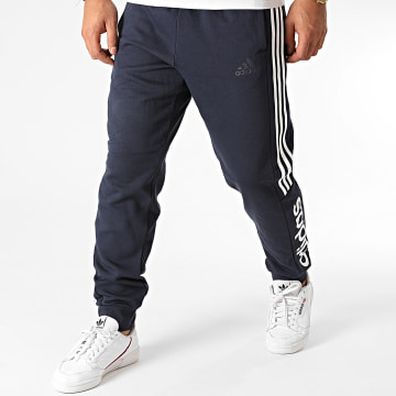 Adidas Performance - Pantalon Jogging A Bandes GL7466 Bleu Marine