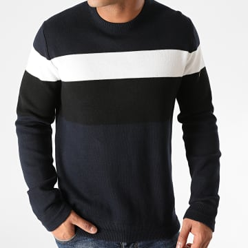 Only And Sons - Pull Robbie 12 Colorblock Bleu Marine