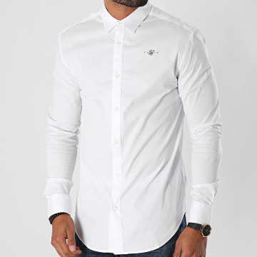 SikSilk - Chemise Manches Longues Standard Collar 17412 Blanc