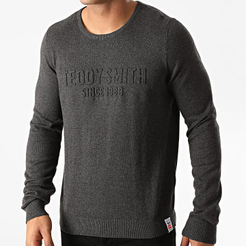 Teddy Smith - Pull Wist Gris Anthracite Chiné