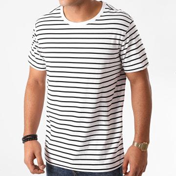 Urban Classics - Tee Shirt TB1571 A Rayures Blanc Noir
