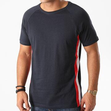Urban Classics - Tee Shirt A Bandes TB2185 Bleu Marine
