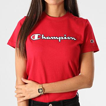 Champion - Tee Shirt Femme 113194 Rouge