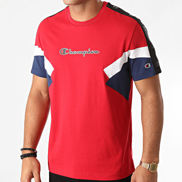 Champion - Tee Shirt A Bandes Colour Block 214789 Rouge