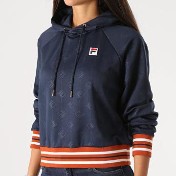 Fila - Sweat Capuche Femme Helen 687871 Bleu Marine