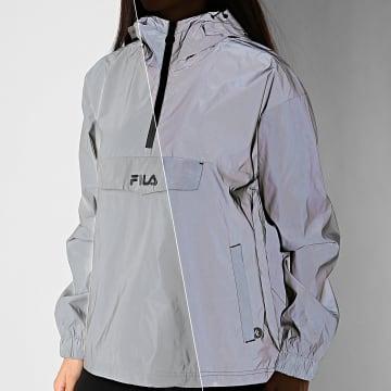 Fila - Veste Coupe-Vent Femme Réfléchissant Lina 688387 Gris