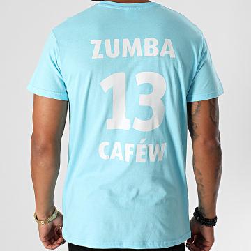 La Franc-Manesserie - Tee Shirt Zumba Cafew Bleu Clair