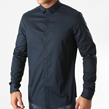 Solid - Chemise Manches Longues Tyler Bleu Marine
