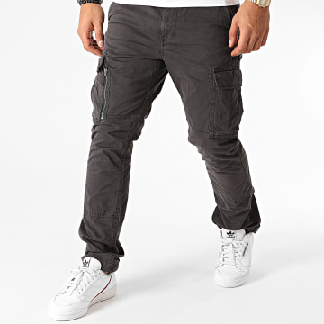 Superdry - Pantalon Cargo Recruit Grip 2.0 M7010186A Gris Anthracite