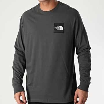 The North Face - Tee Shirt Manches Longues Boruda A4C9I Gris Anthracite