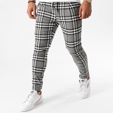 Uniplay - Pantalon A Carreaux UP-T3557 Gris Chiné