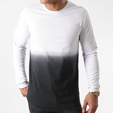 LBO - Tee Shirt Oversize Manches Longues 1199 Blanc Dégradé Noir