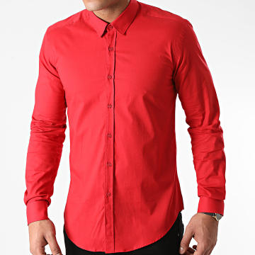 LBO - Chemise Manches Longues Slim Fit 1422 Rouge