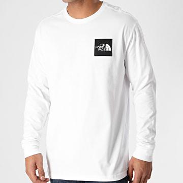 The North Face - Tee Shirt Manches Longues Boruda A4C9I Blanc