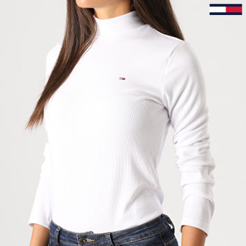 Tommy Jeans - Pull Col Roulé Femme 9105 Blanc