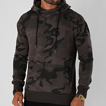 Urban Classics - Sweat Capuche High Neck Camo TB1781 Gris Anthracite Camouflage
