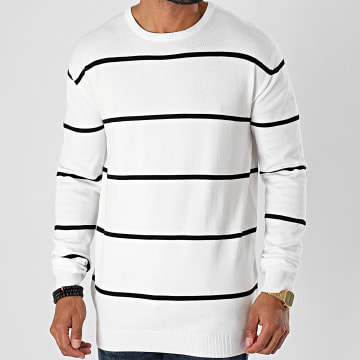 Urban Classics - Pull A Rayures Line Striped TB2700 Blanc