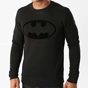DC Comics - Sweat Crewneck Batman Logo Velvet Noir Noir