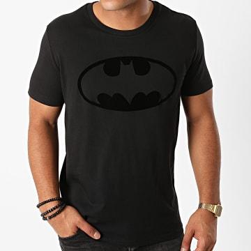 DC Comics - Tee Shirt Batman Logo Velvet Noir Noir