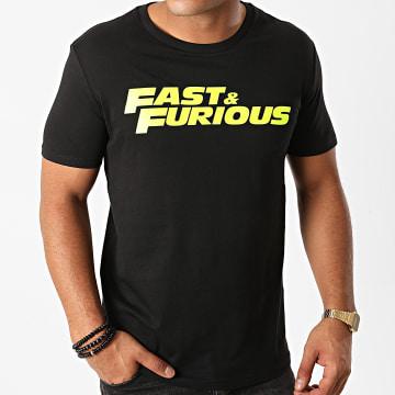 Fast & Furious - Tee Shirt Fast And Furious Noir Jaune Fluo