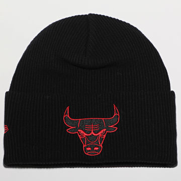 New Era - Bonnet Wordmark Cuff Knit 12489919 Chicago Bulls Noir