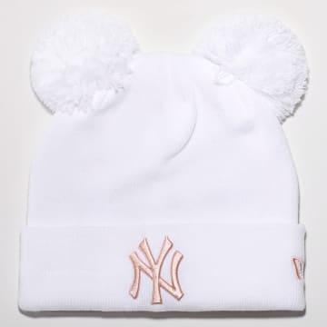 New Era - Bonnet Femme League Essential Double 12489944 New York Yankees Blanc