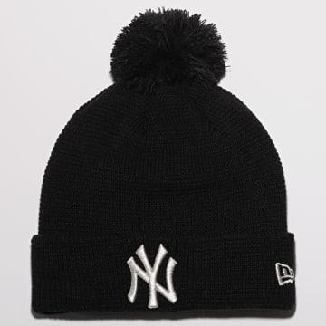 New Era - Bonnet Femme Bobble Cuff Knit 12489961 New York Yankees Noir