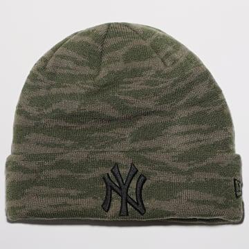 New Era - Bonnet Camo Cuff Knit 12490317 New York Yankees Vert Kaki Camo
