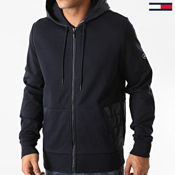 Tommy Hilfiger - Sweat Zippé Capuche Mercedes-Benz Mixed Media TT0TT08491 Bleu Marine