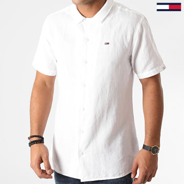 Tommy Jeans - Chemise Manches Courtes TJM Stripe Camp 8309 Blanc