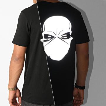 Untouchable - Tee Shirt Logo Réfléchissant Noir