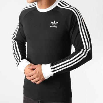Adidas Originals - Tee Shirt Manches Longues A Bandes DV1560 Noir