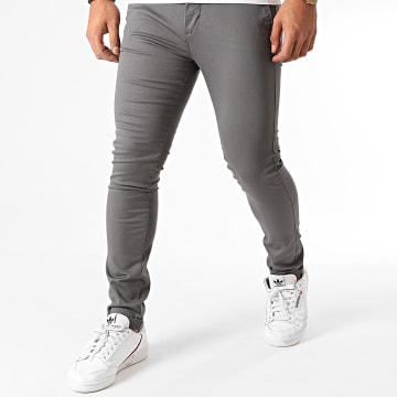 Celio - Pantalon Chino Skinny Motalia4 Gris Anthracite