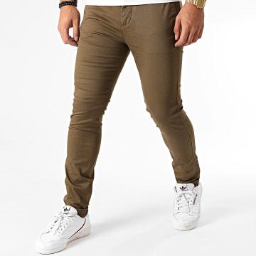 Celio - Pantalon Chino Skinny Motalia4 Vert Kaki