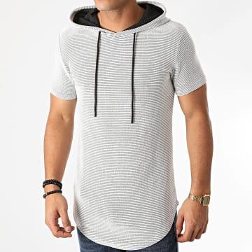 John H - Tee Shirt Capuche Oversize XW05 Gris