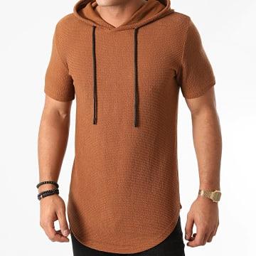 John H - Tee Shirt Capuche Oversize XW05 Camel