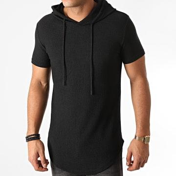 John H - Tee Shirt Capuche Oversize XW05 Noir
