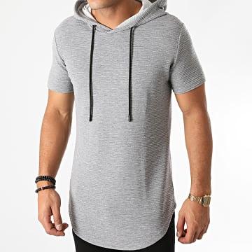 John H - Tee Shirt Capuche Oversize XW01 Gris