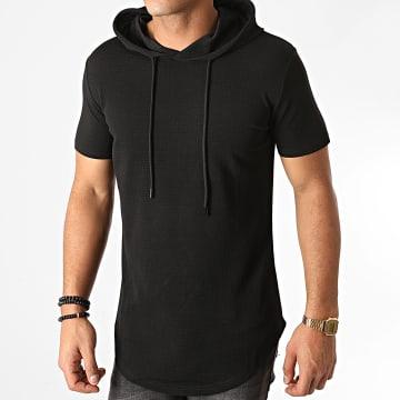 John H - Tee Shirt Capuche Oversize XW09 Noir