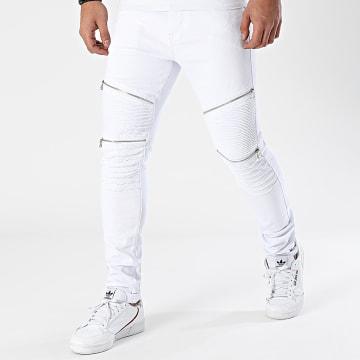 LBO - Jean Skinny Avec Zips B818 Blanc