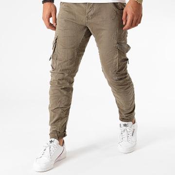 Le Temps Des Cerises - Pantalon Cargo Mowa Vert Kaki