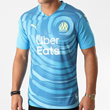 Puma - Tee Shirt De Sport OM Third Authentic 757074 Bleu Clair