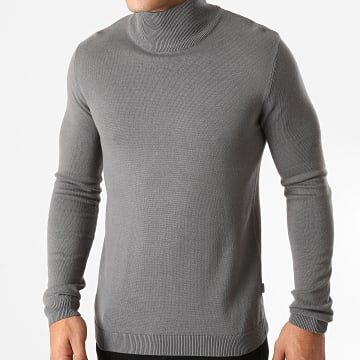 Solid - Sweat Col Montant Luno Gris Anthracite