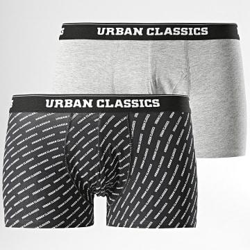 Urban Classics - Lot De 2 Boxers TB1277 Noir Gris Chiné